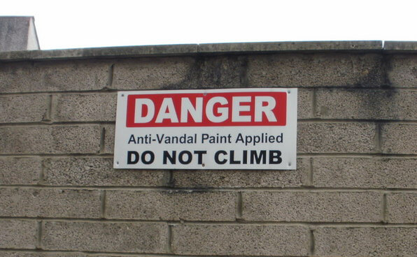 Anti Vandal paint sign